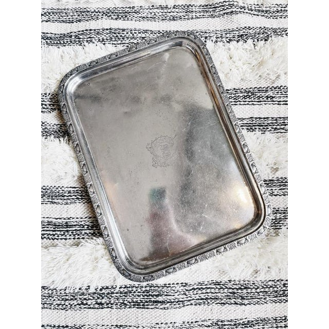 Metal 1951 Silver Serving Tray From the Waldorf-Astoria Hotel For Sale - Image 7 of 7