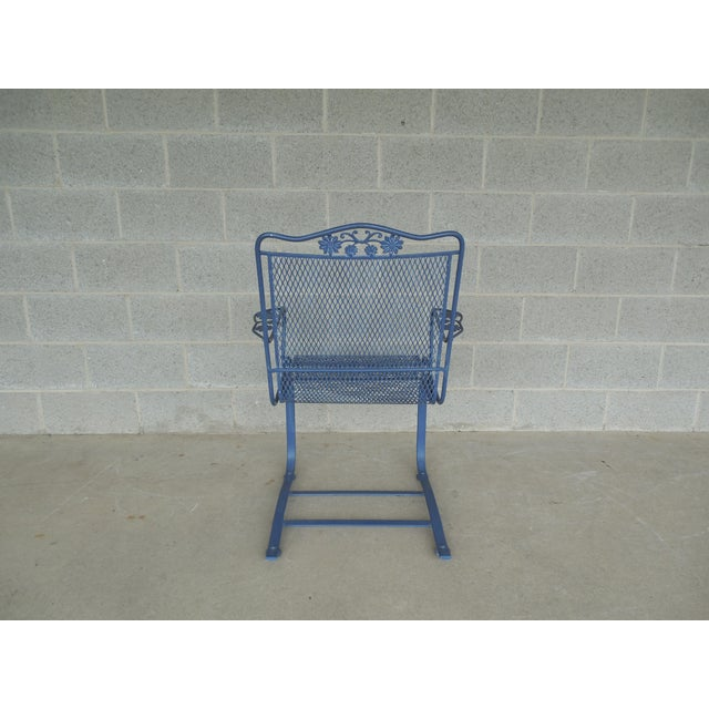 Vintage Woodard Briarwood High Back Spring Base Chair Model #1A052904 - Image 8 of 8