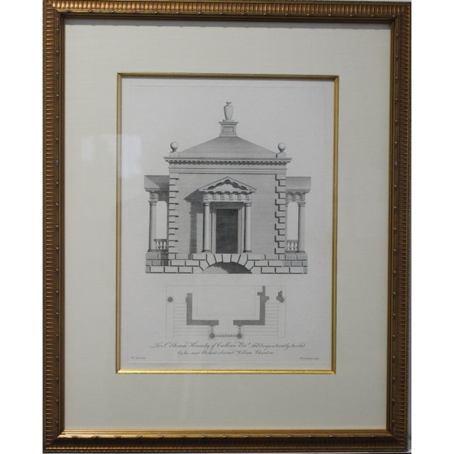 Antique 1759 William Chambers Chromolithographs on Architecture - Framed Set of 3 For Sale - Image 4 of 11