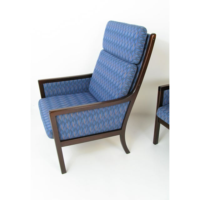 Danish Modern Lounge Chairs by Ole Wanscher for P. Jeppesen - Set of 3 - Image 4 of 8