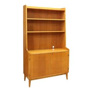 Danish Mid-Century Modern Teak Bookcase Cabinet For Sale