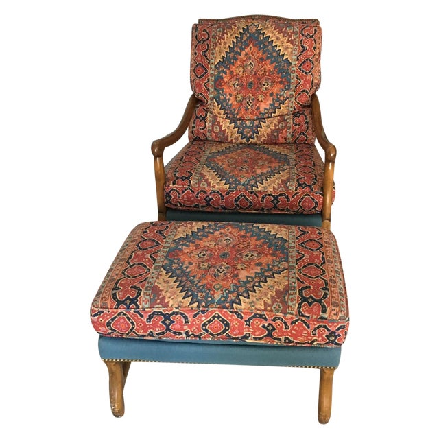 Mutton Bone Lounge Chair and Ottoman - Image 1 of 9