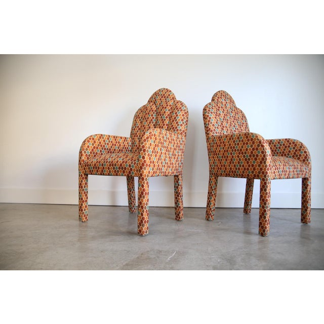 Scalloped Postmodern Armchairs- A Pair For Sale - Image 12 of 13
