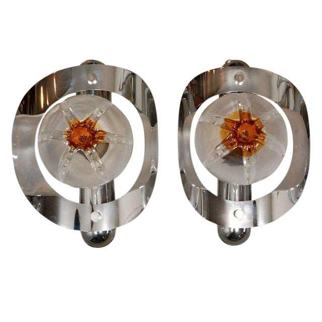 Mazzega Sconces - A Pair - Image 1 of 7