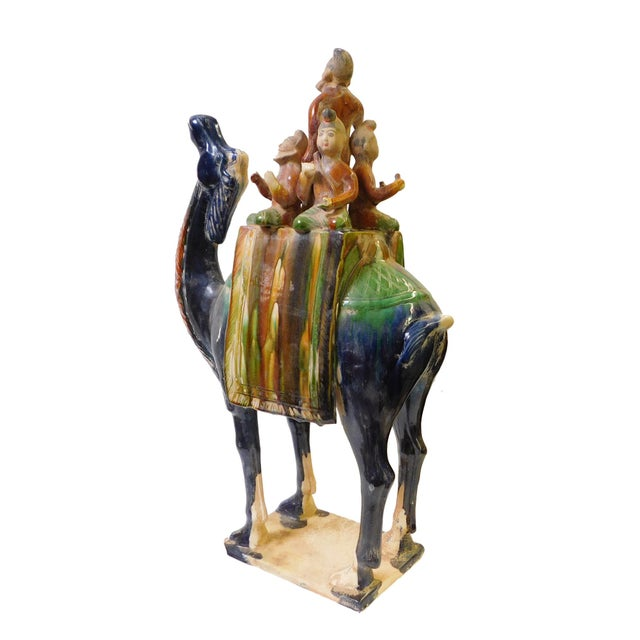 Chinese Pottery Clay Ancient Style Camel Figure For Sale - Image 4 of 7
