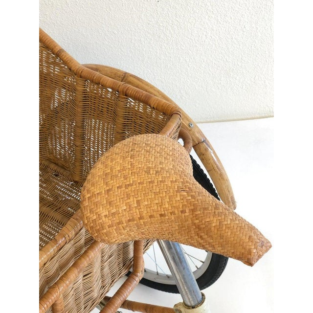 Brown Wicker and Bamboo Tricycle For Sale - Image 8 of 12