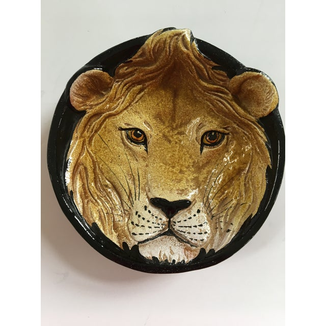 Mid-Century Italian Hollywood Regency Lion Decorative Bowl/Catchall For Sale - Image 4 of 12