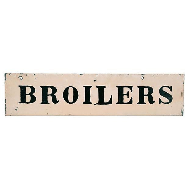 American Vintage Broilers Chicken Sign For Sale - Image 3 of 3