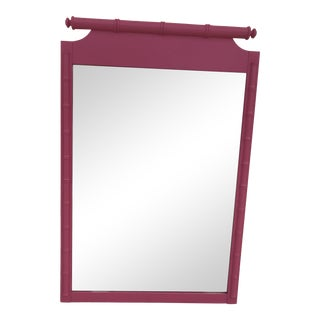 Henry Link Faux Bamboo Chinoiserie Mirror For Sale