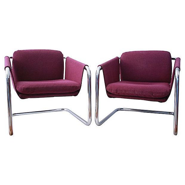 1980s Postmodern Cantilevered Chairs - A Pair - Image 5 of 10
