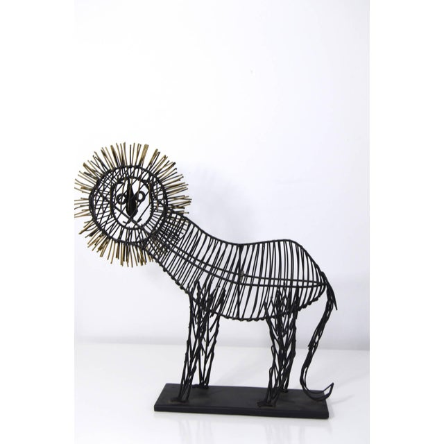 Curtis Jere Style Sculpture of a Lion - Image 3 of 8