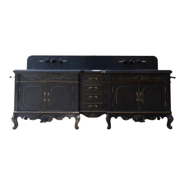 Platner & Co Carbon Carved Vanity For Sale