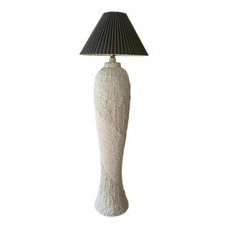 1980s Tessellated Stone Plaster Floor Lamp For Sale