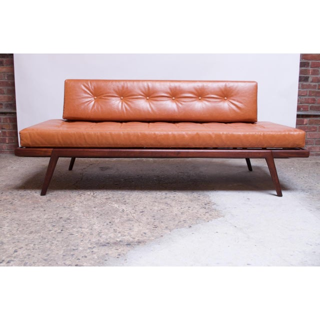 Danish Modern Mid-Century Walnut and Leather Daybed / Settee by Mel Smilow For Sale - Image 3 of 13