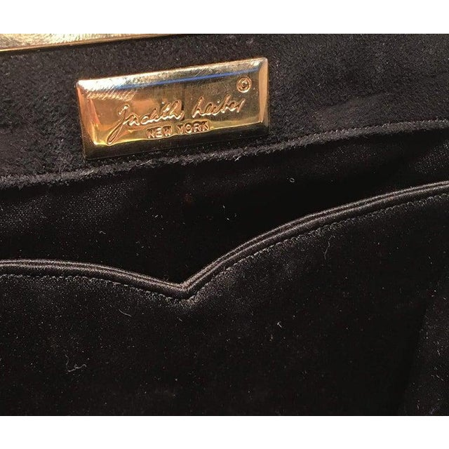 Judith Leiber Black Suede Evening Bag Clutch With Silk Tassel For Sale - Image 9 of 10
