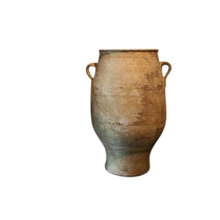 19th Century Floor Size Terra Cotta Greek Olive Jar For Sale