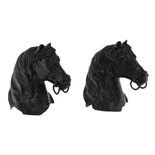 "Antique Horseheads From French ""Haras"" For Sale"