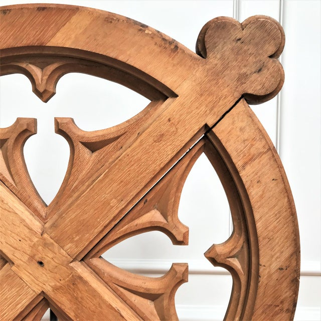 Early 20th Century Early 20th C Oak Celtic Revival Architectural Fragment For Sale - Image 5 of 12