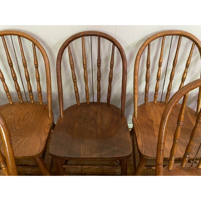 Antique Bow Back Windsor Chairs - Set of 10 For Sale In Atlanta - Image 6 of 12