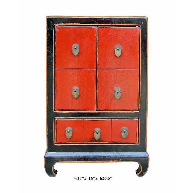 Chinese Black & Red Lacquer Cabinet - Image 6 of 6