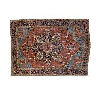 """Antique Persian Heriz 7'6"""" x 10'6"""" Rug"""