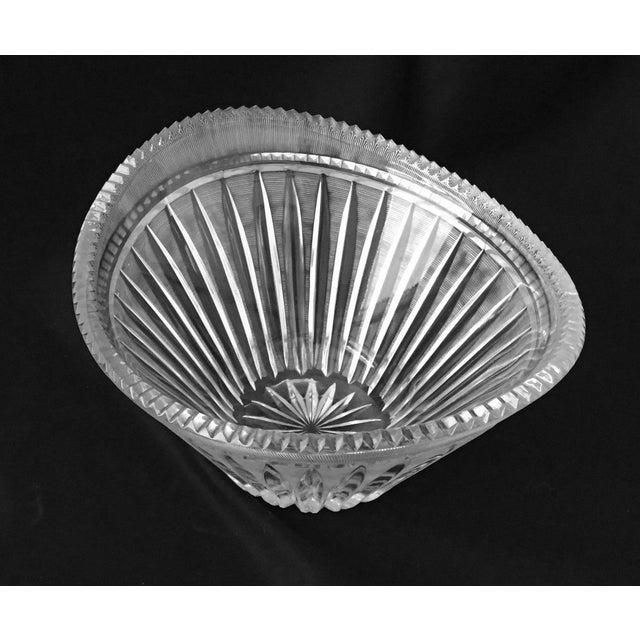 Mid-Century Modern Mid-Century Modern Elegant Cut Crystal Bowl For Sale - Image 3 of 9