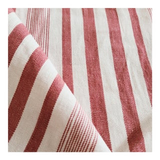 Dedar Candy Stripe Linen Designer Fabric by the Yard For Sale