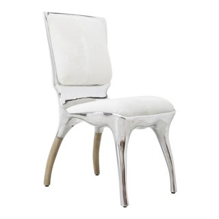 Alex Roskin, Tusk High Chair in Polished Aluminum, Usa For Sale