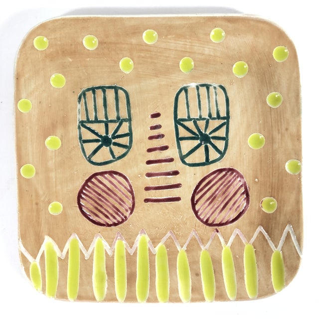 """""""Just Peachy Face"""" Tray by Keavy Murphree For Sale - Image 4 of 4"""