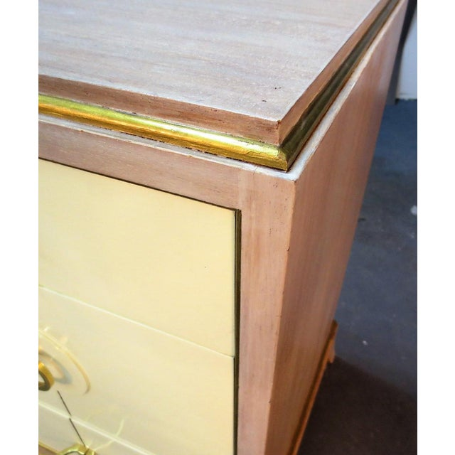 Yellow Parzinger Style Chest of Drawers For Sale - Image 8 of 10
