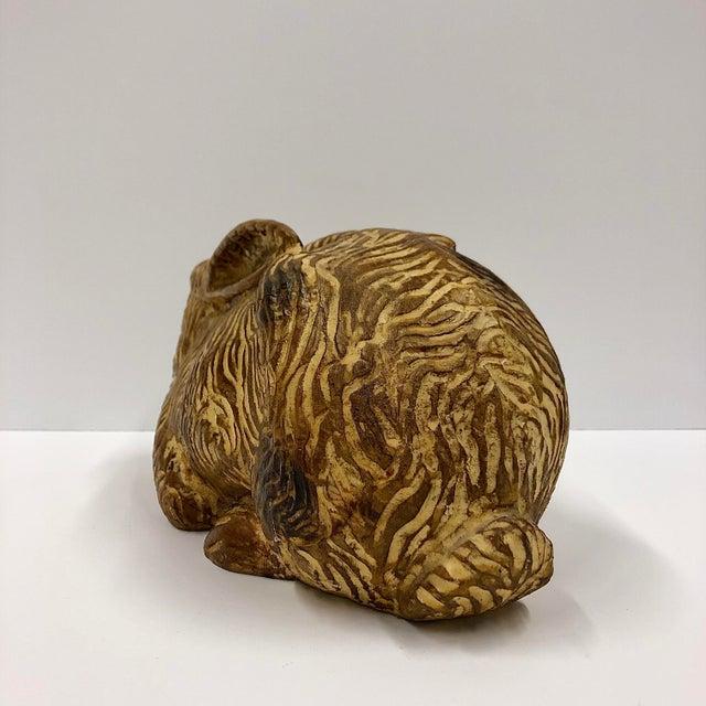 Sarreid Hand Carved Wooden Rabbit For Sale - Image 4 of 6