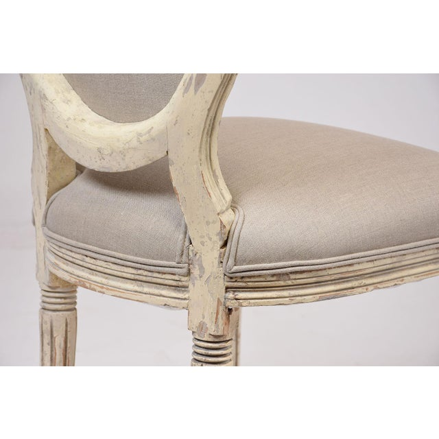 Antique French Louis XVI-Style Dining Chairs - Set of 6 - Image 8 of 10