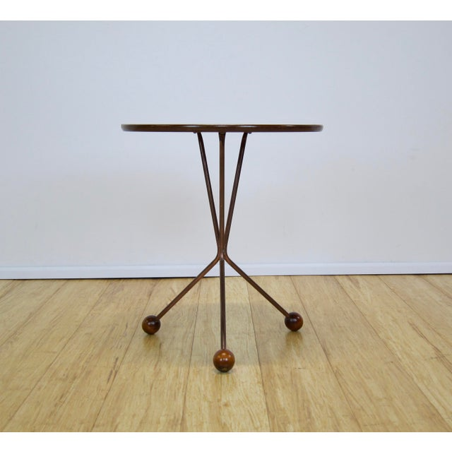 "Mid-Century Modern 1950s Larssons Möbelfabrik ""Table in a Jar"" Side Table For Sale - Image 3 of 13"