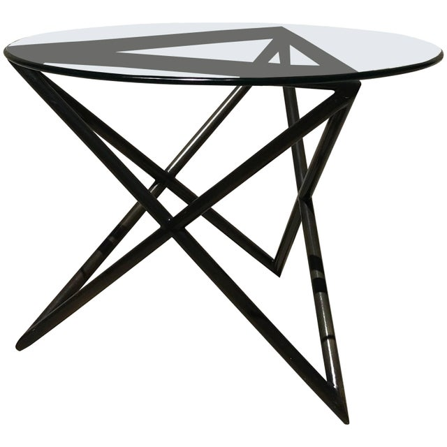 Modern Modern Abstract Bronze Side Table From Steve Chase Estate For Sale - Image 3 of 3