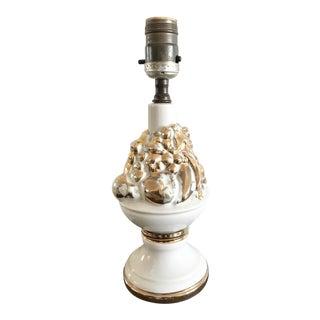 Vintage Gold Fruit Lamp For Sale