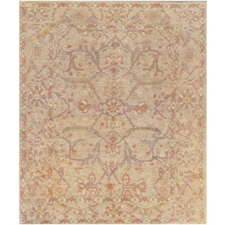 "Mansour Fine Quality Handwoven Agra Rug - 8' X 9'3"" For Sale"