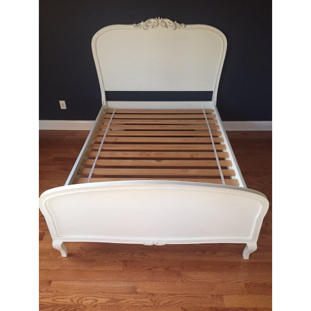 French Provincial Pottery Barn Lilac Bed For Sale - Image 3 of 5