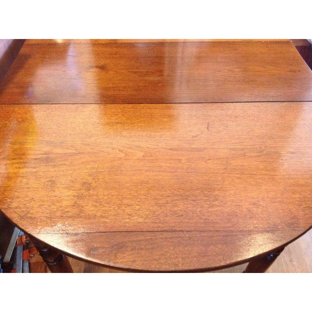 Late 18th Century Antique 1860 Black Walnut Extendable Farm Dining Table For Sale - Image 5 of 12