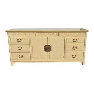 Henredon Folio 16 Asian Style Faux Goatskin 9 Drawer Dresser For Sale