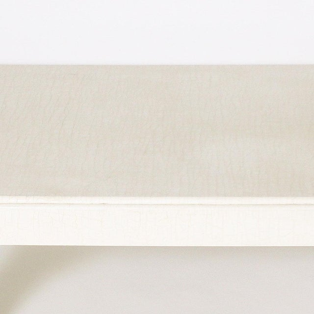 Asian 1970s White Ivory Lacquered Crackle Coffee Table For Sale - Image 3 of 6