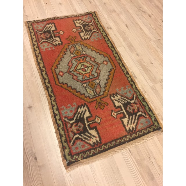 "Anatolian Tribal Handmade Carpet - 1'7"" x 3' - Image 3 of 6"
