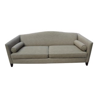 Mitchell Gold + Bob Williams Camel Back Tweed Sofa For Sale