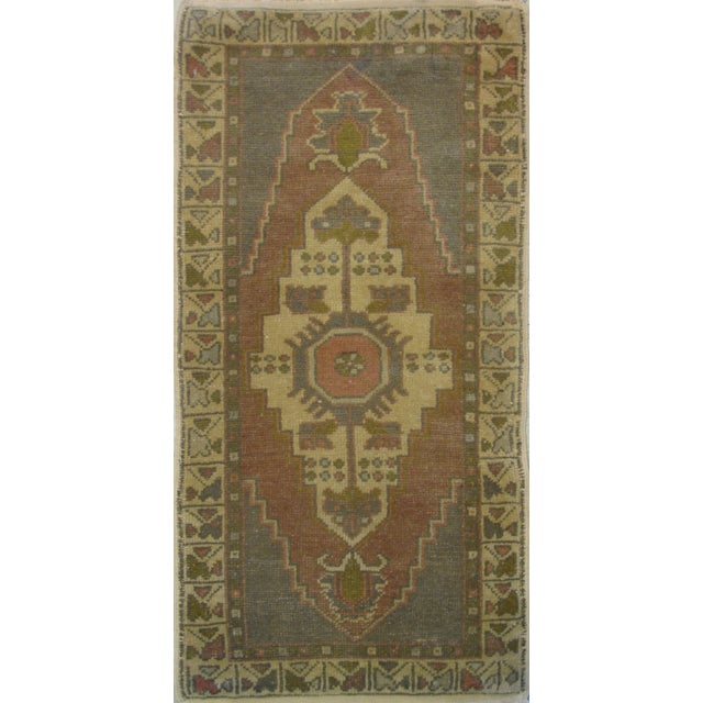 "Vintage Turkish Oushak Rug - 1'7"" X 3'3"" - Image 1 of 5"