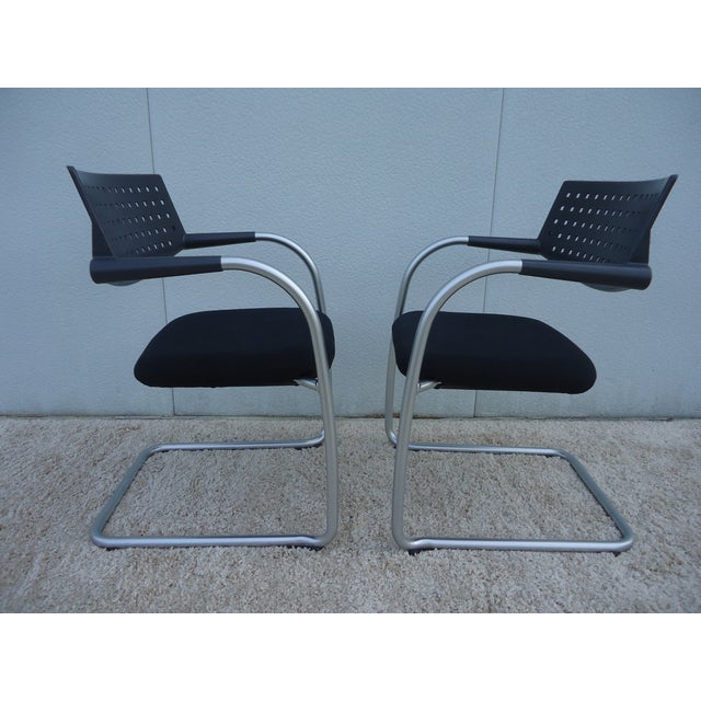 Modern Antonio Citterio for Vitra Visasoft Visavis Guest and Conference Chairs- Set of 6 For Sale - Image 10 of 13