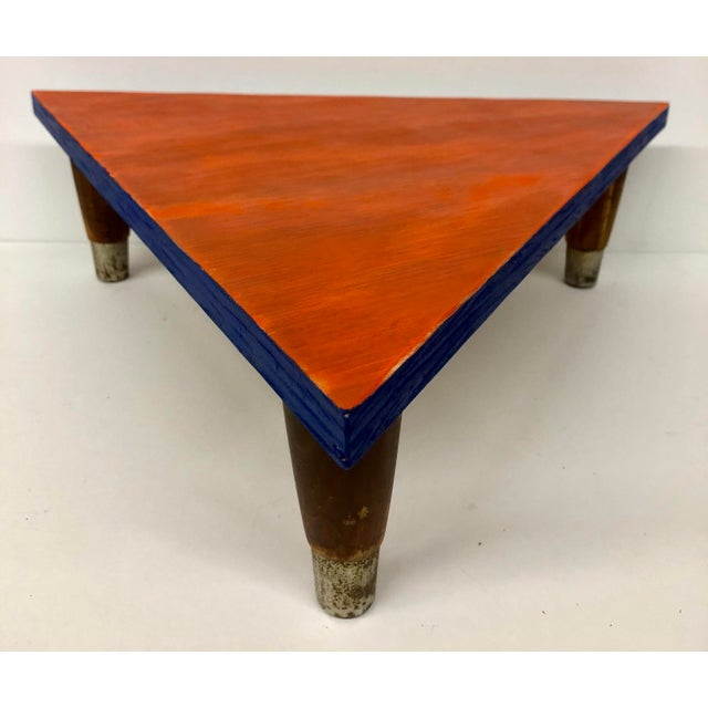 Reclaimed Wood Triangle Low Table For Sale - Image 13 of 13