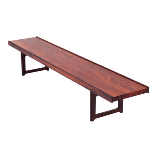 "Vintage Mid Century Rosewood ""Krobo"" Bench by Torbjørn Afdal for Bruksbo / Mellemstrands For Sale"
