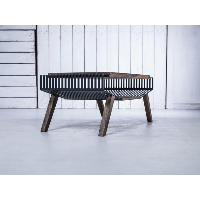 Solid Wood & Perforated Steel Coffee Table - Image 7 of 8