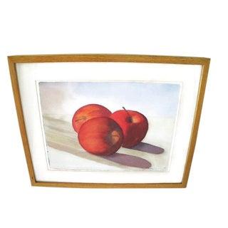 Original Watercolor Painting of Apples