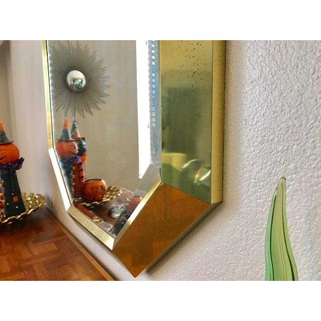 Springer Style Brass Beveled Glass Mirror - Image 6 of 9