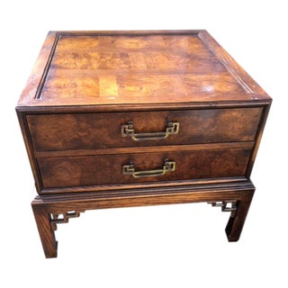 1960s Asian Hekman Chest/End Table For Sale